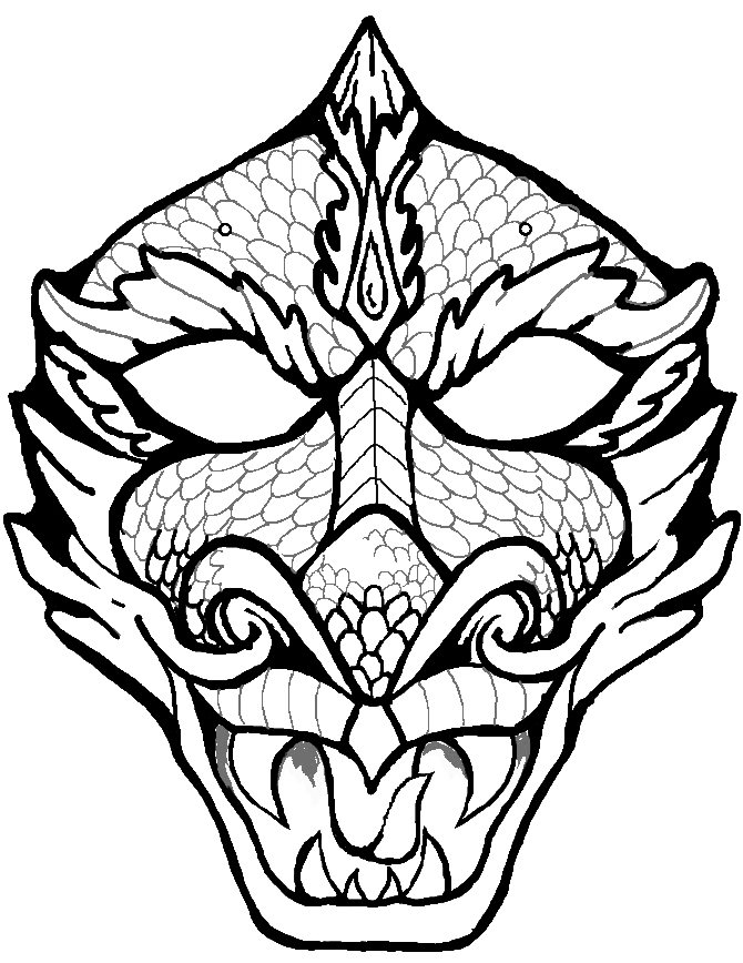 Imagery camila oliveira fairclough for Chinese dragon face template