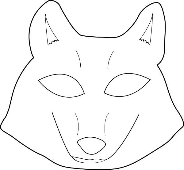 Gallery For gt Wolf Mask Template