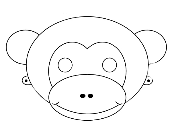 Monkey face printable for Monkey face template for cake