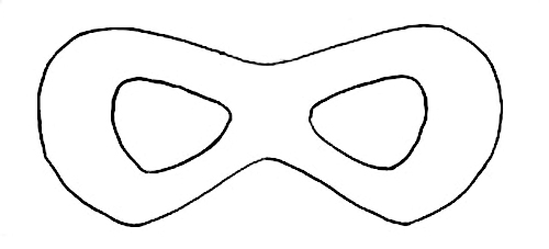 Imagery on Cat Mask Coloring Page 2